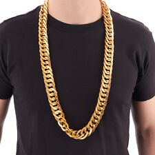 """38"""" Heavy Rope GOLD PIMP CHAIN OLD SCHOOL RAPPER Costume Bling!!"""