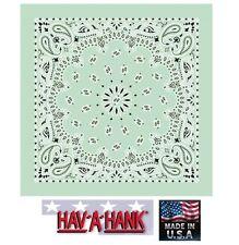 Fabriqué aux USA Hav-A-Hank Vert Menthe Paisley Bandana Écharpe Scarve Tête