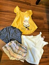 Savannah-Toddler 4 pc clothing set summer shorts and tops 12 month girl outfit