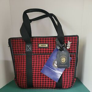 SHERPA pet carrier ADVENTURE GEAR Orig Deluxe Houndstooth Cat Small Dog NEW TAGS