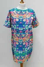 CAMEO ROSE Mini Tunic / Slip Dress - Multi Colour Geometric Pattern - Size 10