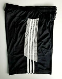 Adidas Men's Active Black Shorts with Zipper Pockets ~ Black Size LG ~ Brand New