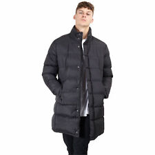Mens Padded Long Jacket Brave Soul Quilted Bubble Coat Funnel ALEXANDER Winter
