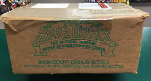EMPTY 1990 Impel Marvel Universe Series 1 Card Factory Shipping Case Box EMPTY