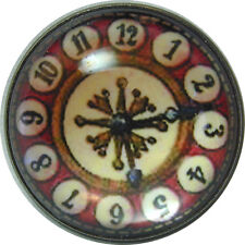 Crystal Dome Button Old Fashioned Clock Face