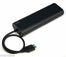 AA Battery Portable Emergency Backup Charger BLACK for Lenovo ThinkPad 8 Tablet