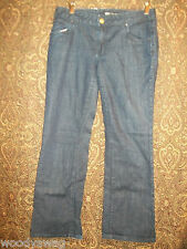 Mossimo Jeans pre owned good condition Size 8 Boot Cut Fray Classic Dark