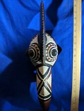 Baule Kpan Mask with Magnificent Details — Authentic Carved Wood African Art