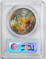 1881-S $1 Morgan Dollar PCGS MS 65 Monster Colorful Toned Beauty Cert0763