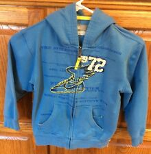 Kids Nike 1972 Coll - Full Zip Hoodie Jacket - Blue Yellow Youth Small YS Size 7