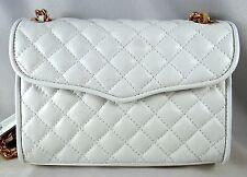 Rebecca Minkoff White Quilted Mini Affair Crossbody Shoulder Bag