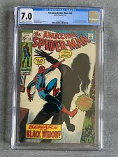 AMAZING SPIDER-MAN #86. CGC 7.0. BLACK WIDOW ORIGIN. KEY MCU.
