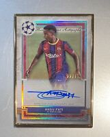 2021 Topps Museum Collection UEFA Ansu Fati Gold Framed 1st Auto JERSEY #22 /25