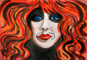 PORTRAIT OF VALI MYERS PRINT,  BY LINA EVE