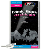 50 - Archivals Modern / Current 2-Mil Mylar Polyester Comic Book Bags by BCW