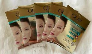 5x Olay Magnemasks Advanced Brightening Sheet Face Masks 24g Radiant BRAND NEW