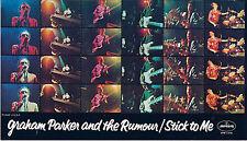 "Sticker: Graham Parker and the Rumour ""Stick to Me"" (1977) Rare Item"