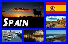 SPAIN - SOUVENIR NOVELTY FRIDGE MAGNET - BRAND NEW - GIFTS - SIGHTS / FLAGS
