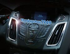 Chrome AIR-CONDITION CONTROL PANEL Vent Cover trim Ford Focus MK3 2012 2013 2014
