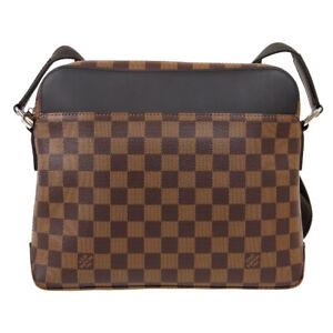 LOUIS VUITTON JAKE MESSENGER SHOULDER BAG TR4155 PURSE DAMIER EBENE N41568 61369