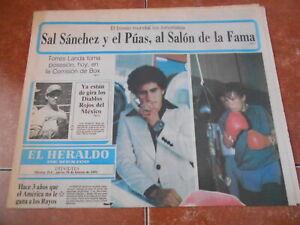 1991 HERALDO newspaper SAL salvador SANCHEZ international BOXING HALL OF FAME