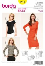 Burda Style Schnittmuster - Shirt , Kleid mit Raglanärmeln - Nr.6910