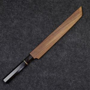 10 in Japanese Chef Knife Sheath Sushi Yanagiba Knife Wood Saya Blade Guard Case