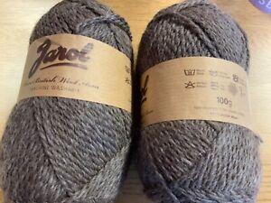 Jarol Pure British Wool Aran machine Washable RRP £6.99X100g) Brown col 02