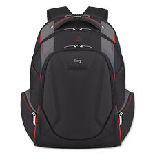 "Solo Launch Laptop Backpack 17.3"" 12 1/2 x 8 x 19 1/2 Black/Gray/Red ACV7114"