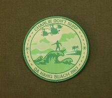 Charlie Don't Surf Da Nang Beach 1967 Morale Patch Apocalypse Now Vietnam War