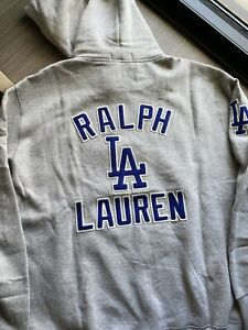 Polo Ralph Lauren X LA Dodgers Hoodie Sweatshirt Chain Stitched MLB Sold Out