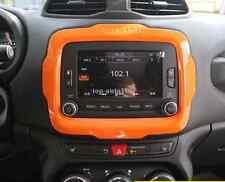 ABS Auto Interior Dashboard Navigation Frame Trim Orange For Renegade 2015-2017