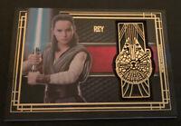 Star Wars The Last Jedi Rey Medallion Card BG-RM with Millenium Falcon emblem