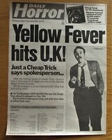 "CHEAP TRICK AT THE BUDOKAN 11"" x 14"" FULL PAGE MAGAZINE ADVERT UK 1979 POSTER"
