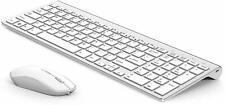 Wireless Keyboard Mouse J JOYACCESS Aluminum Metal Alloy Rechargeable Portable