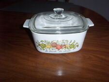 CORNING SPICE OF LIFE  PATTERN 1-1/2 QT CASSEROLE DISH AND LID