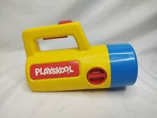 Vintage 1986 Yellow Blue Playskool Kids Changing Red Green Flashlight 3-Color