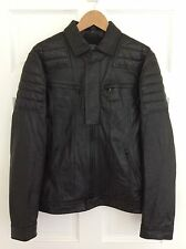 EUC MENS ARMANI EXCHANGE BLACK SOFT LEATHER MOTO BIKE JACKET SIZE MEDIUM NICE!!!