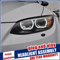 For BMW M3 E92 E93 Headlights 2006-2013 Double Beam Lens Projector LED DRL Lamps