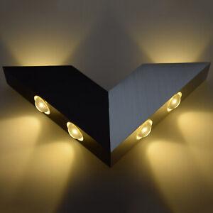 6W LED V-Shaped Wall Lamp Hall Porch Walkway Living Room Light Bulbs Fixture ST