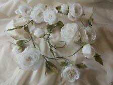 Artificial Silk Rose Garland x 1.5m - Ivory Cream - Wedding Flower Decor
