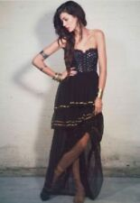 174003 Free People Limited Edition Moonlight Dancer Dress Mirror Embellished S 6