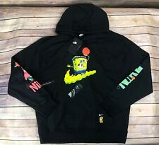 Nike Kyrie x Spongebob Squarepants Dri-Fit Hoodie Black CQ7184 010 NWT Sz XL