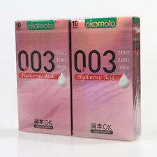 20p Okamoto 003 Hyaluronic Acid 0.03mm condom Lubricant Super Ultra THIN condoms