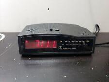 GE Alarm Clock Radio No 7-4813B AM/FM Battery Backup LED General Electric WORKS