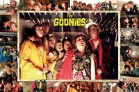THE GOONIES ~ COLLAGE FRAME 24x36 MOVIE POSTER Jeff Cohen Sean Astin Josh Brolin