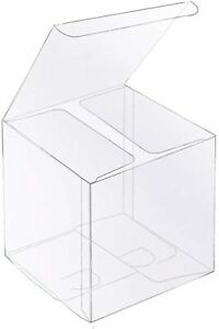 30 PCS Plastic Gift Box,4 x 4 x 4 inch Clear Boxes for Favors