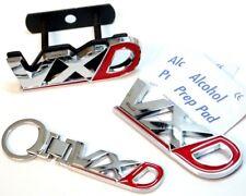 VXD Badge Set Chrome & Red Plus Keyring Rear Tailgate Grill Vauxhall Opel VXR
