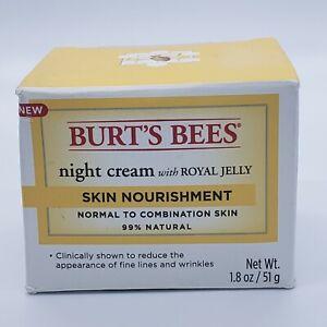 Burt's Bees Night Cream with Royal Jelly Skin Nourishment 1.8 oz New Sealed