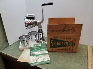 Vintage Salad Maker Rival Saladeer  Model 657 3 Cones Grater/Slicer/Shredder